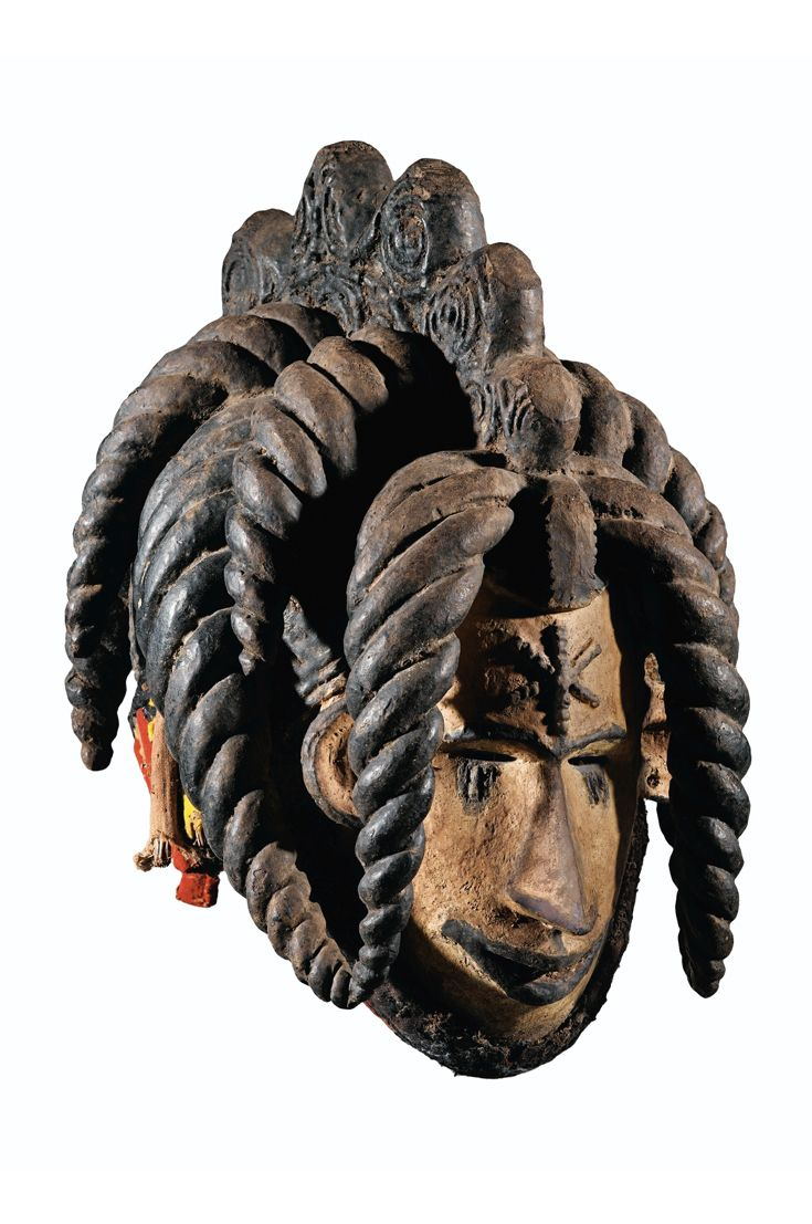 Africa | Helmet mask from the Igbo people of Nigeria | Wood and pigment | c. mid 20th century