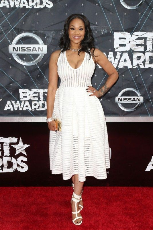 Mimi Faust in white at the 2015 BET Awards