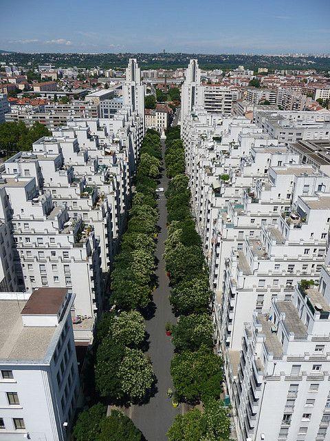 Avenue Henri Barbusse, Quartier Gratte-ciel, Villeurbanne, Lyon