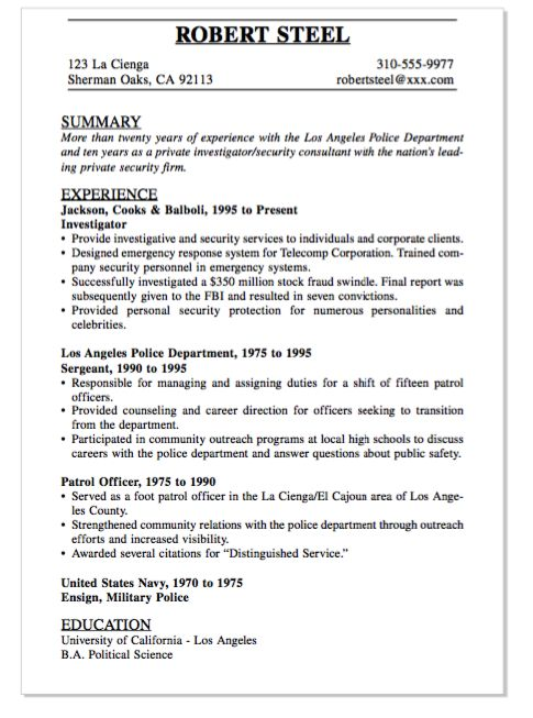 Canine Security Officer Sample Resume] Canine Security ...