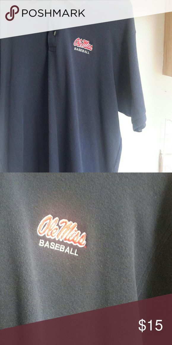 Size large Ole miss Polo Never been used   shirt is not faded just the pics   Ole miss baseball polo Shirts Polos