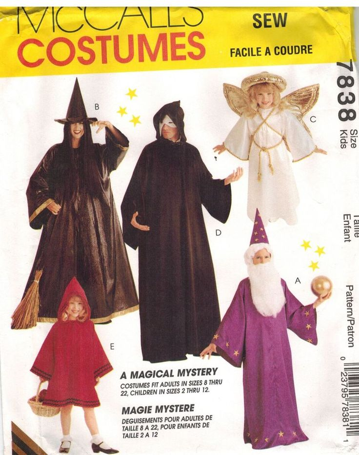 30 best Halloween images on Pinterest | Costume patterns, Mccalls ...
