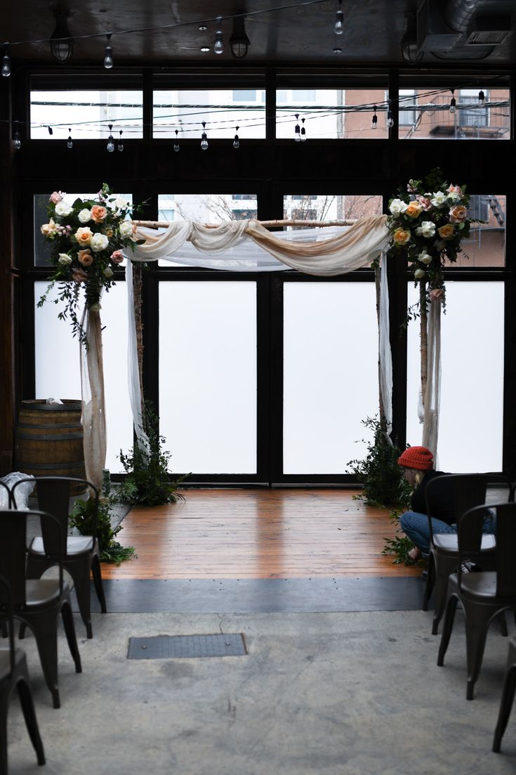 Winter Brooklyn Winery Wedding. Delicate and romantic