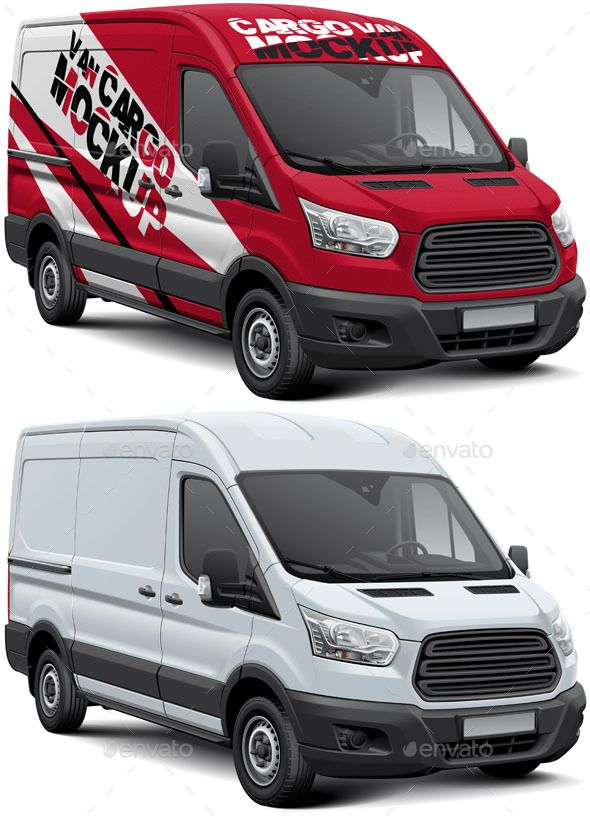 Cargo Van #Mockup - #Vehicle Wraps Print | Product Mockups