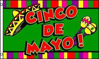 DRAPEAU CINCO DE MAYO AU MEXIQUE 150x90cm – DRAPEAU DU 5 MAI 90 x 150 cm – DRAPEAUX – AZ FLAG