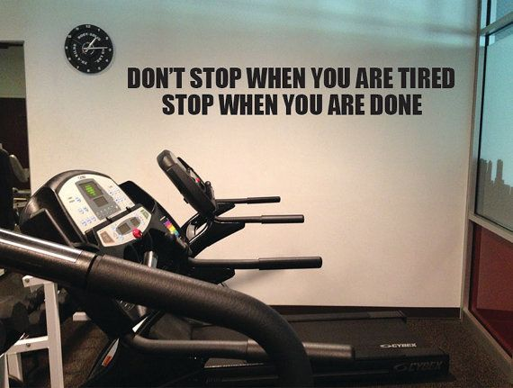 """Don't Stop When You Are Tired, Stop When You are Done. Crossfit Motivation Wall Art 10""""x60"""" on Etsy, $25.00"""
