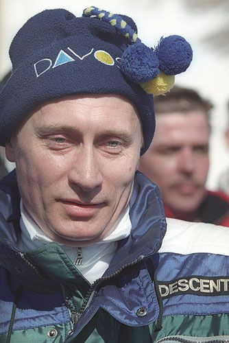 Russian President Vladimir Putin enjoys skiing both in Russia and in Davos…