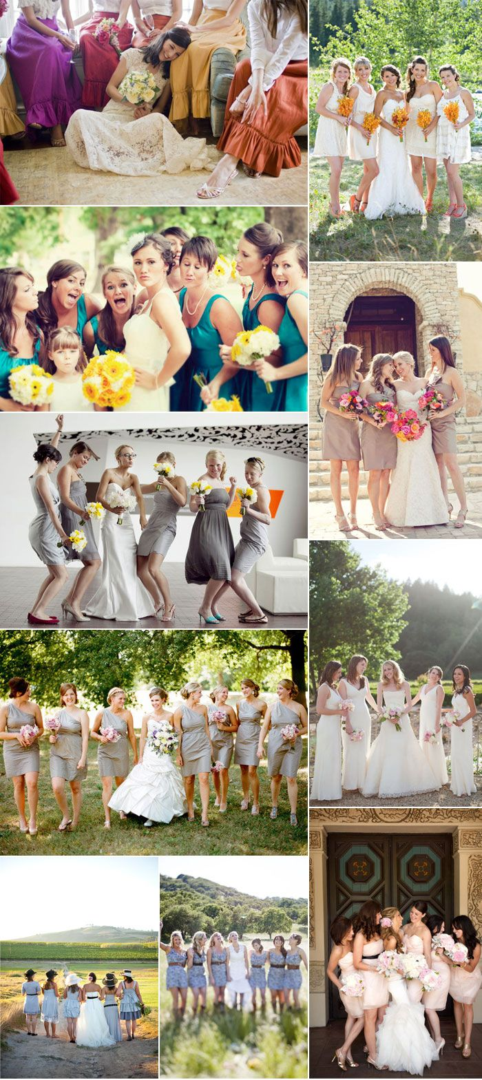 I only like the bridemaids dresses and flowers in the secind one down on the right.. yeeaa :))