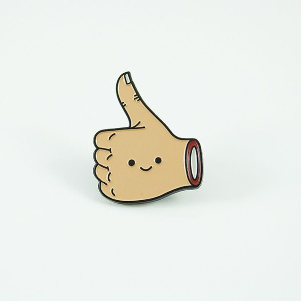 Image of Stay Positive - enamel pin
