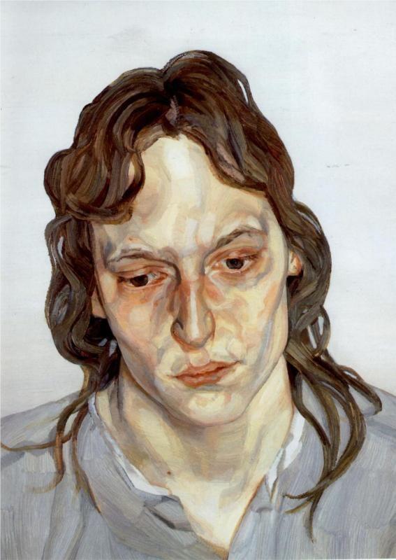 Self-Portrait, Reflection - Lucian Freud - WikiPaintings.org