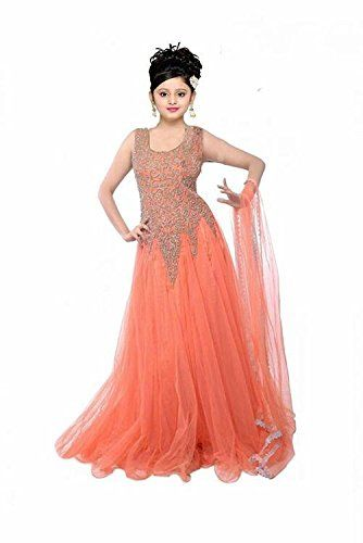 3670ce7e3 Myozz Women s Net Anarkali Salwar Suit Set (Kdsmc5008 Orange Free ...