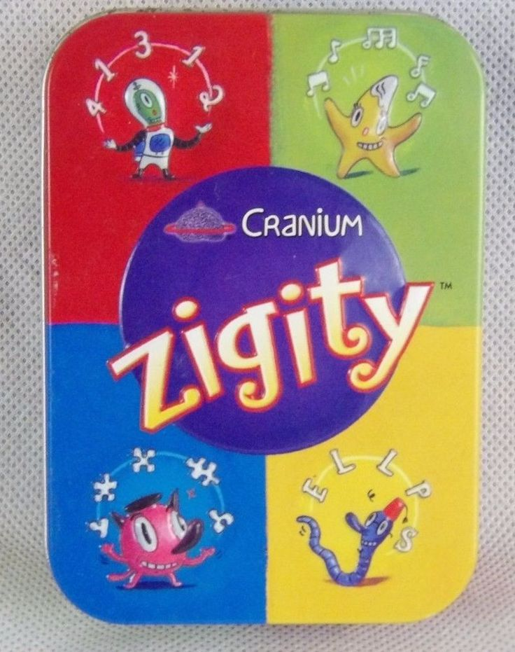 Cranium Zigity Card Game In Tin Complete With Printed Off