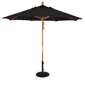 Market Umbrella W 9ft Hardwood  Hardwood