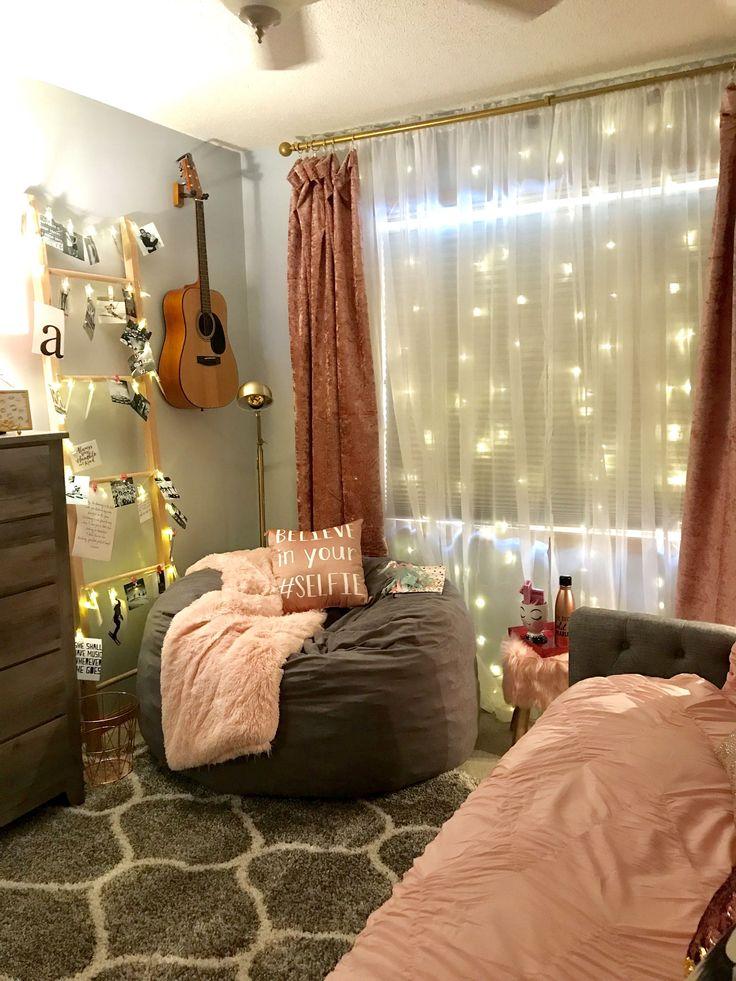 fairy lights homedecor teengirls teenbedroom fairylights aesthetic bedroom home decor on cute lights for bedroom decorating ideas id=35761