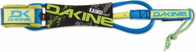 """Dakine Kainui Team 6' x 1/4"""" Neon Bue Surf Leash"""