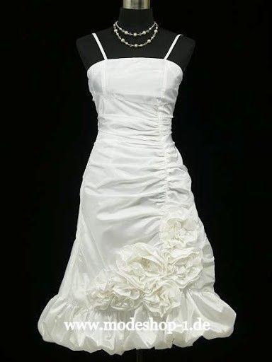 Kurzes Cocktailkleid Brautkleid Jerewan in Weiß