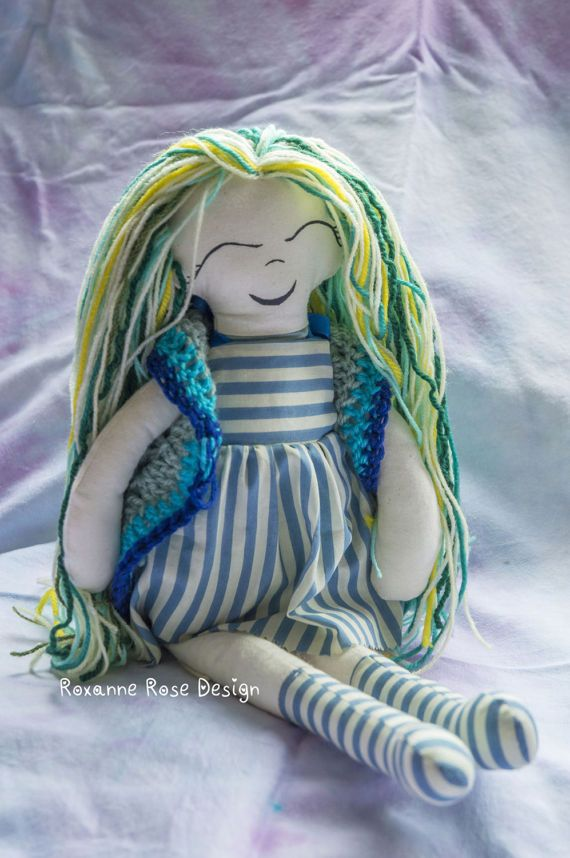 Shelley the fabric doll