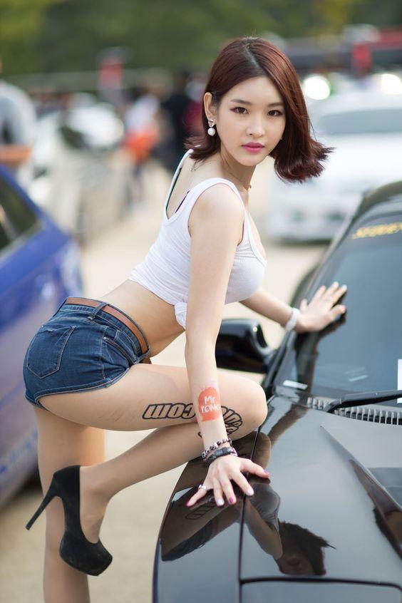 Young asian girls on white women