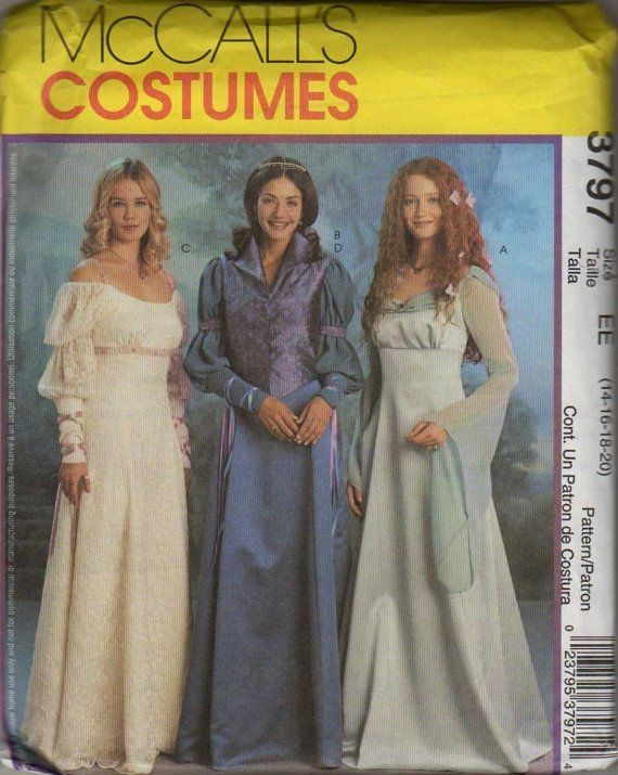 97 best Renaissance Sewing Patterns images on Pinterest | Costume ...