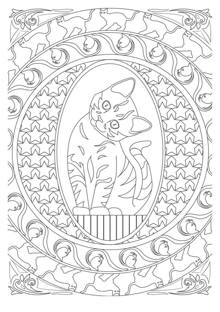 art therapy coloring pages cat - photo#38
