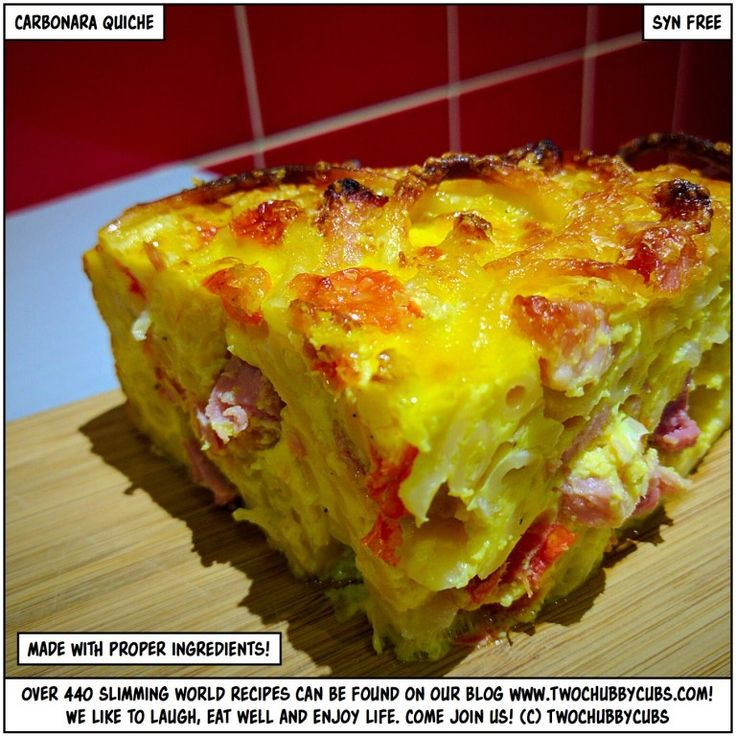 syn-free carbonara quiche - yes, it's amazing - twochubbycubs