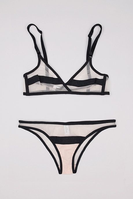 Bra, $97, Yasmine Eslami at My Chameleon. Brief, $66, Yasmine Eslami at My Chameleon.