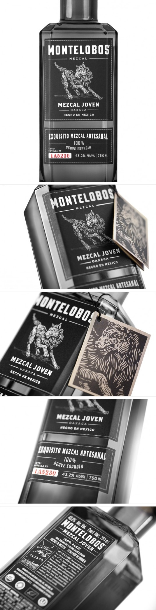 Fabulous illustration on the packaging label Montelobos Mezcal PD
