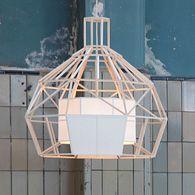 Satori designlamp van balsahout door Daniel Hulsbergen | Odesi. Dutch Design Online