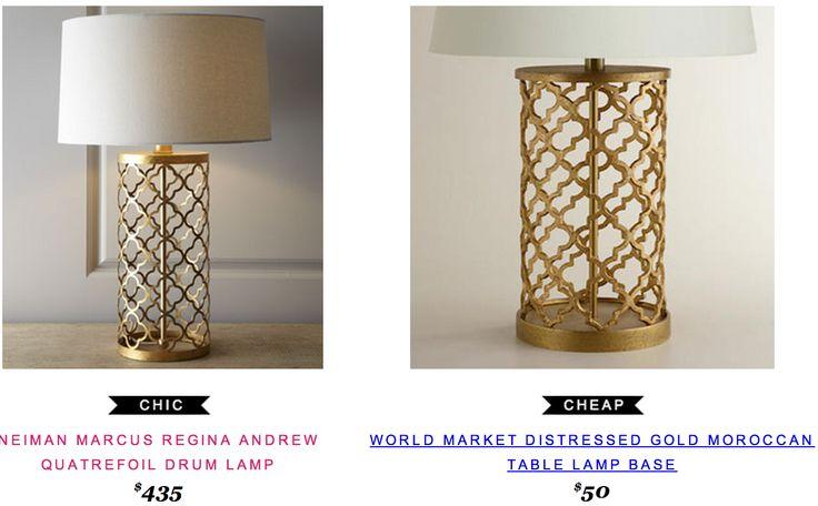 Neiman Marcus Regina Andrew Quatrefoil Drum Lamp 435 Vs