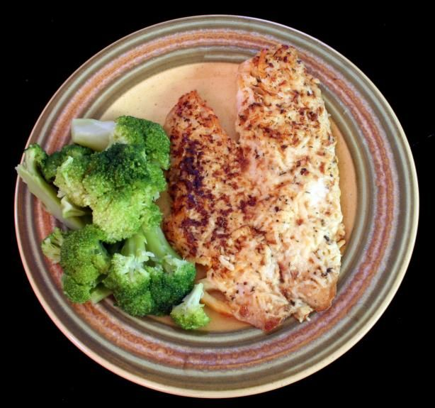 Broiled Parmesan Tilapia (Low-Carb) from Food.com: You'll love this fish recipe! I have also made this with other meaty fish fillets too, works well with basa fillets also!