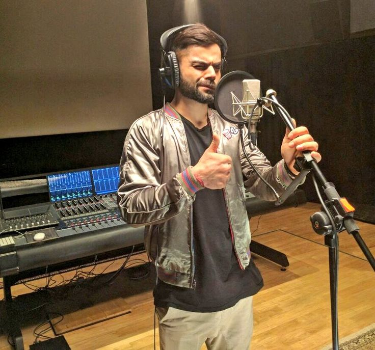 Throwback to the day at the genius's recording studio, Mr. @arrahman Candid one from the session. Had lots of fun  - Virat Kohli