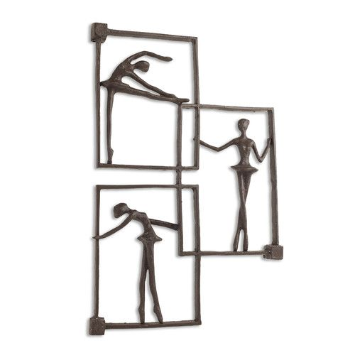Found it at Wayfair - Ballerina Poses on Frames Iron Wall Décor