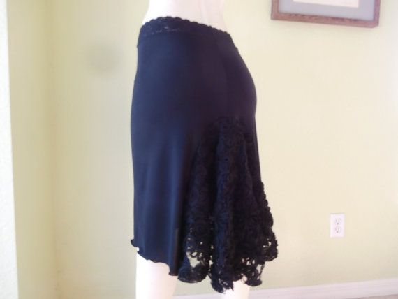 Tango & Salsa asymmetric Skirt Size 0 to 14 with by COCOsDANCEWEAR