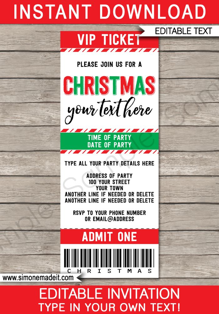 The 25+ best Party tickets ideas on Pinterest Birthday party - christmas party ticket template free