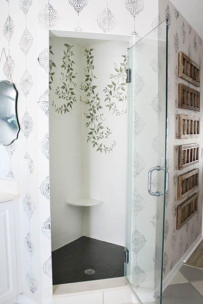 How To Paint Bathroom Tile Floor Shower Backsplash In 2020 Painting Bathroom Tiles Painting Bathroom Home Decor