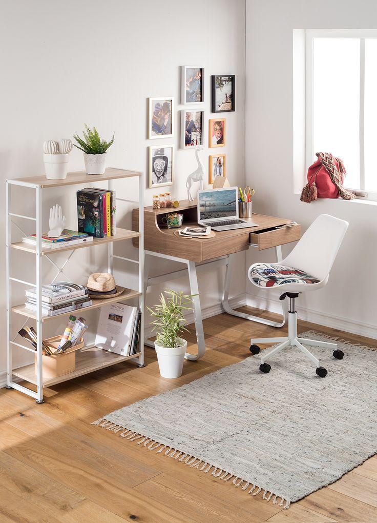 Tu escritorio también puede reflejar tu personalidad. #Muebles #Easytienda #Decoración #Combinaciones #Escritorio