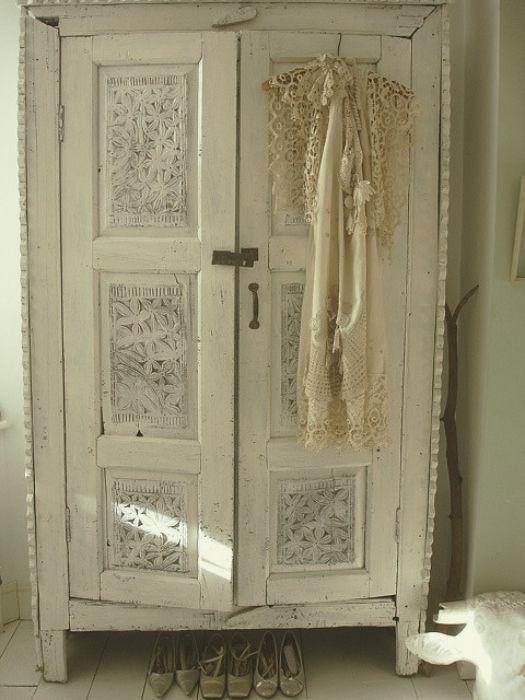 shabby chic wardrobe closet pinterest shabby chic. Black Bedroom Furniture Sets. Home Design Ideas
