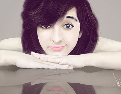 """Check out new work on my @Behance portfolio: """"Digital painting of Shirley Setia""""…"""