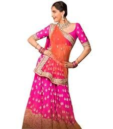 Buy Pink georgette embroidery unstitched lehenga choli lehenga-choli online