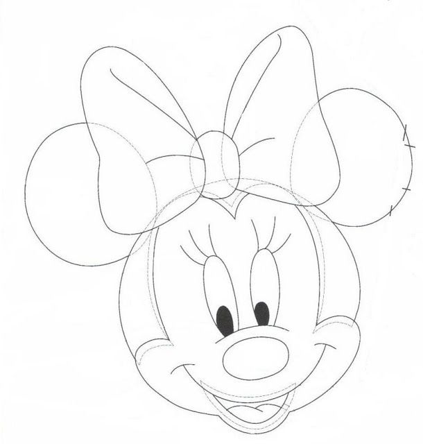 71 best Mickey Mouse y Minnie Mouse / moldes, patrones, dibujos o ...