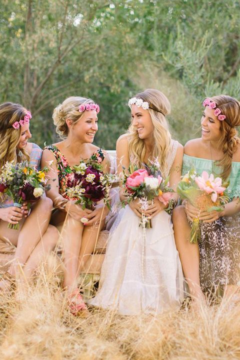 Unique and Chic Weddings : Flower Power ~ Wedding Veils V Floral Crowns ~Flower Headbands