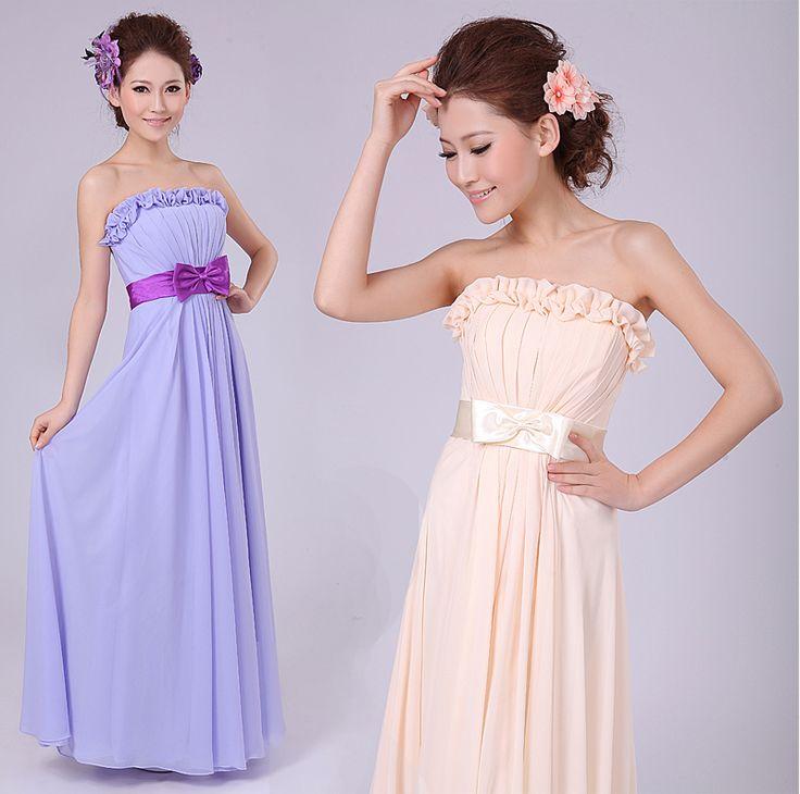格安の花嫁介添人ドレス, 中国の卸売業者から直接購入する: サイズチャートを参照してくださいご注文の際に。送料無料2013ファッションのフロア- 長さのドレス女性のためのピース- 1ストラップ弾性ワーシトシフォンマキシ- ドレスwq0254色Us$23.59/piece床の長さのドレス送料無料ブランドピース- 1マキシドレス女性のためのファッション2013中旬-