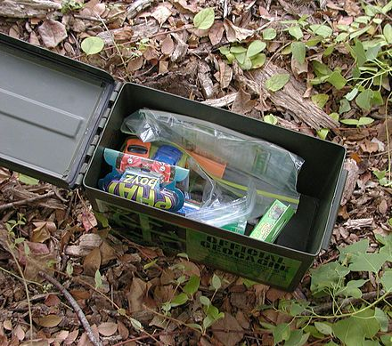 """Geocaching is an outdoor recreational activity, in which participants use a Global Positioning System (GPS) receiver or mobile device and other navigational techniques to hide and seek containers, called """"geocaches"""" or """"caches"""", anywhere in the world"""