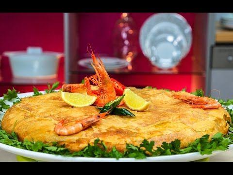 Recette marocaine : Pastilla au poisson شميشة : بسطيلة بالسمك وفواكه البحر - YouTube