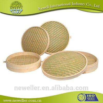 2014 Newell piroscafo di bambù cinese coperchio coperchio piroscafo di bambù paniere alimentare magazzino