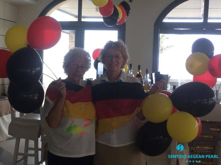German Unity Day celebration at Sentido Aegean Pearl Hotel. Our loved Grandma Renate with Holiday Concierge Manager Mrs. Uli Moosmann ~ 3 October 2015. https://www.facebook.com/SentidoAegeanPearl/photos/pb.198234770217861.-2207520000.1446397017./961536813887649/?type=3