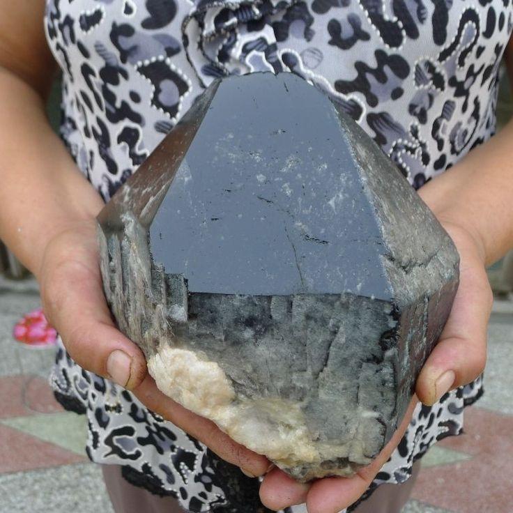 8LB Huge nature Smoky QUARTZ Crystal Point Specimen