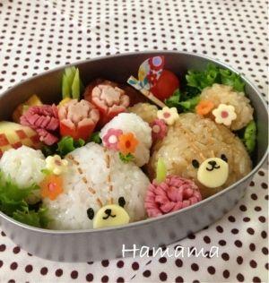 「ルルロロ♪キャラ弁」ルルとロロ、可愛い子熊のお弁当です♡【楽天レシピ】