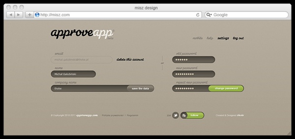 approveapp.com by Michal Galubinski, via Behance