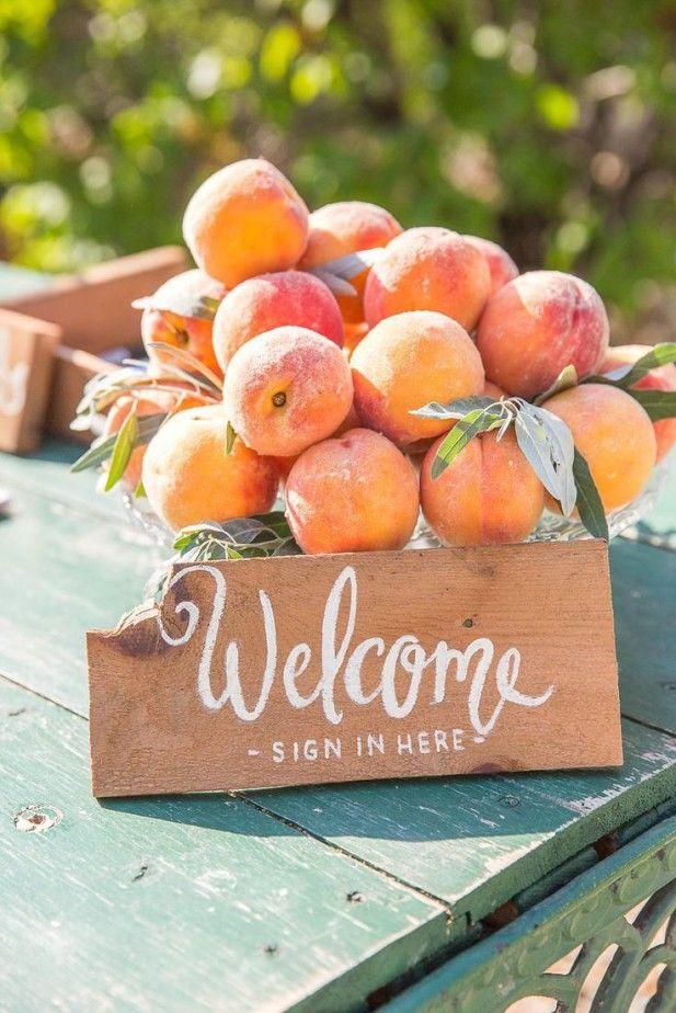 Georgia peach wedding inspiration - Find it at My Hotel Wedding
